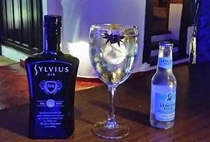 Gin-tonic premium de ginebra Sylvius y tónica Ledger's